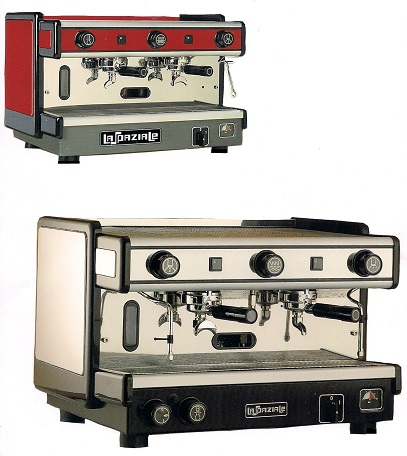 Italian expresso coffee machine made by La Spaziale